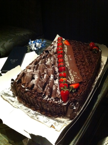 The most chocalatey cake ever.. thats all I remember
