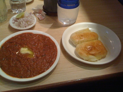Pav Bhaji in Mumbai (had to try the local cuisine)